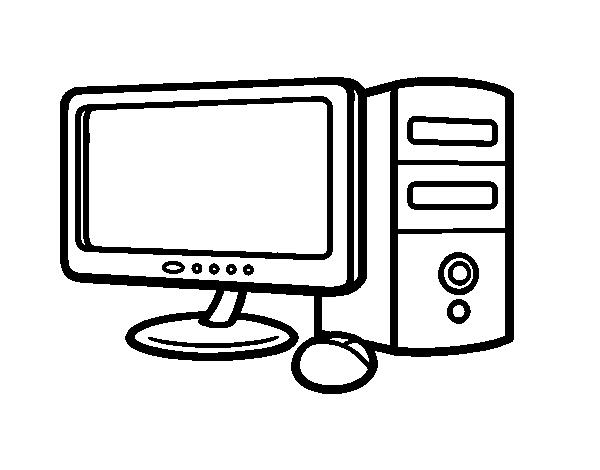 Dibujo De Computadora Para Colorear Dibujos Net
