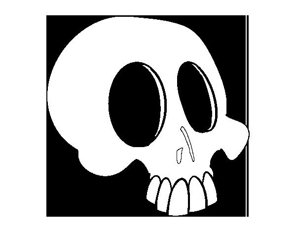 Dibujo de Cráneo para Colorear - Dibujos.net