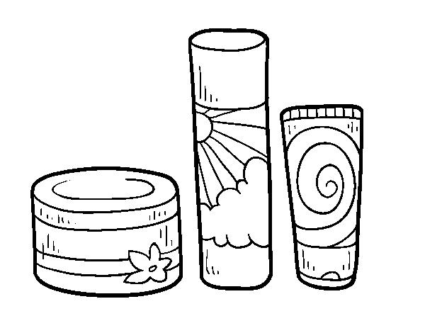Dibujo de Cremas corporales para Colorear - Dibujos.net