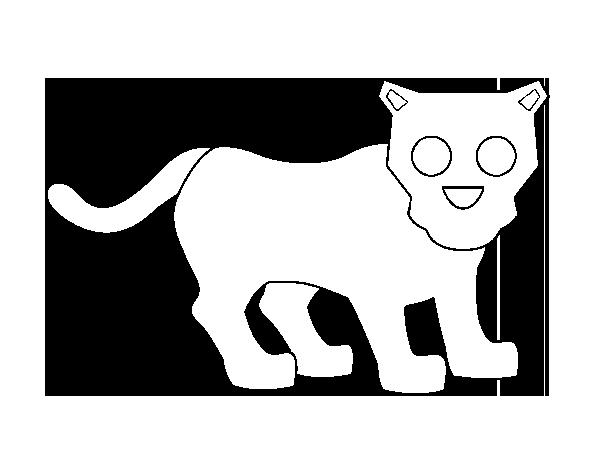 Dibujo De Pantera Pantera Colorear Dibujos Top Como: Dibujo De Cría De Pantera Para Colorear