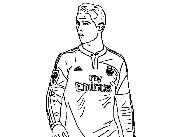 Dibujo de Cristiano Ronaldo para Colorear   Dibujos.net