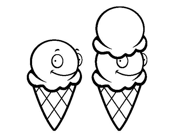 Dibujo de Cucuruchos de helado para Colorear - Dibujos.net