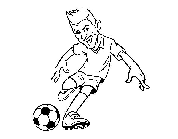 Dibujo de Delantero de futbol para Colorear - Dibujos.net