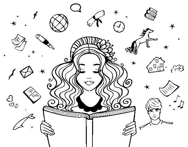 Dibujo De Día Del Libro Para Colorear Dibujosnet