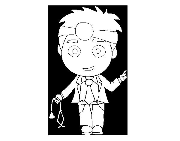 Dibujo De Doctor Para Colorear Dibujosnet
