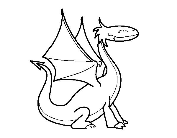 Pagina Para Colorear De Dragon Dragon Ball Z Para Dibujos: Dibujo De Dragon Mitológico Para Colorear
