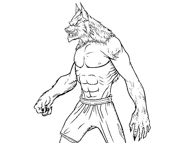 Dibujo de El hombre Lobo para Colorear - Dibujos.net