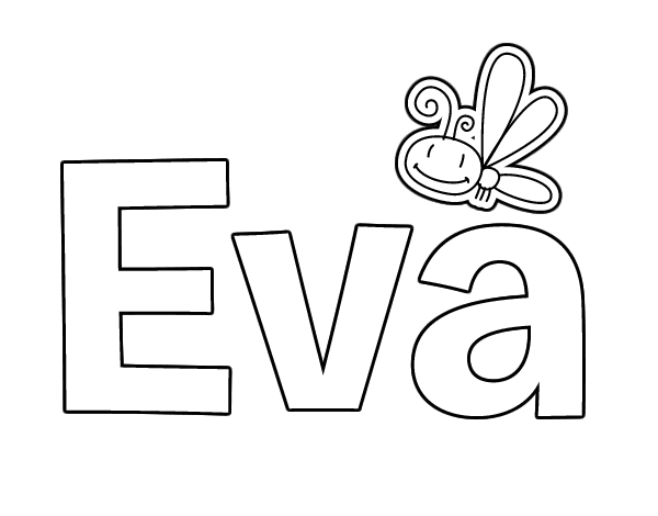 Dibujo de Eva para Colorear - Dibujos.net