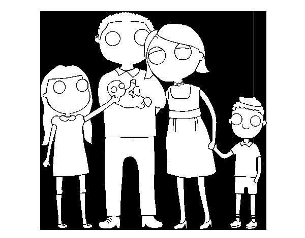 Dibujo de Familia unida para Colorear - Dibujos.net