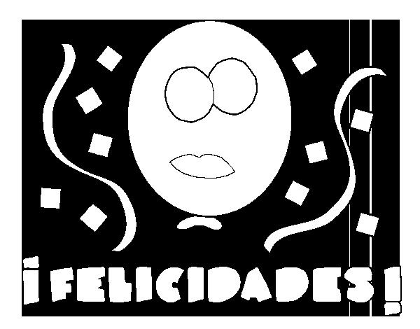 Dibujo De Felicidades Para Colorear Dibujosnet
