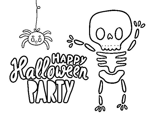 Dibujo De Feliz Fiesta De Halloween Para Colorear Dibujosnet