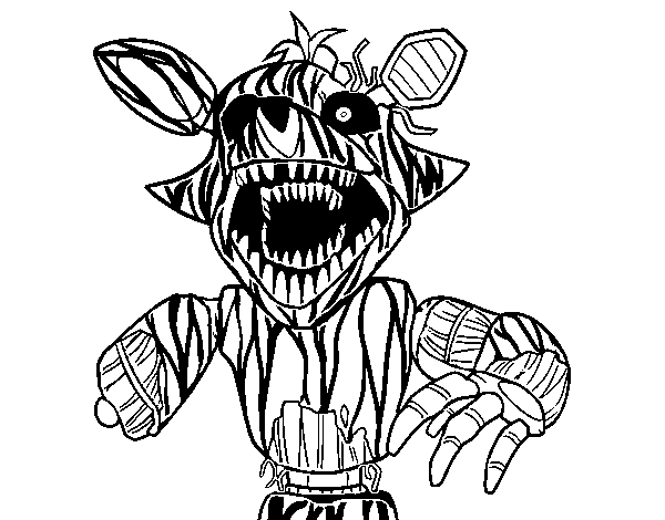 dibujo de foxy terror u00edfico de five nights at freddy u0026 39 s para colorear