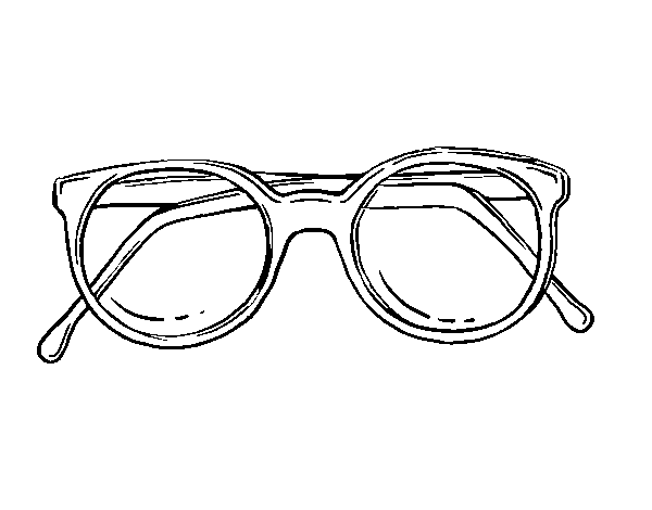 Dibujo de Gafas de pasta redondas para Colorear - Dibujos.net