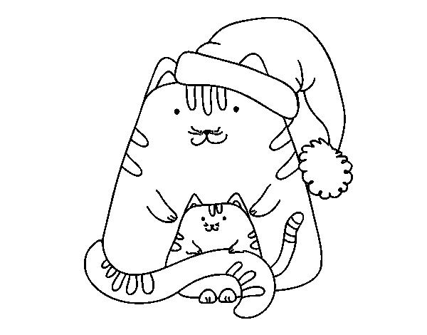 Dibujo De Gatitos Navidenos Para Colorear Dibujos Net