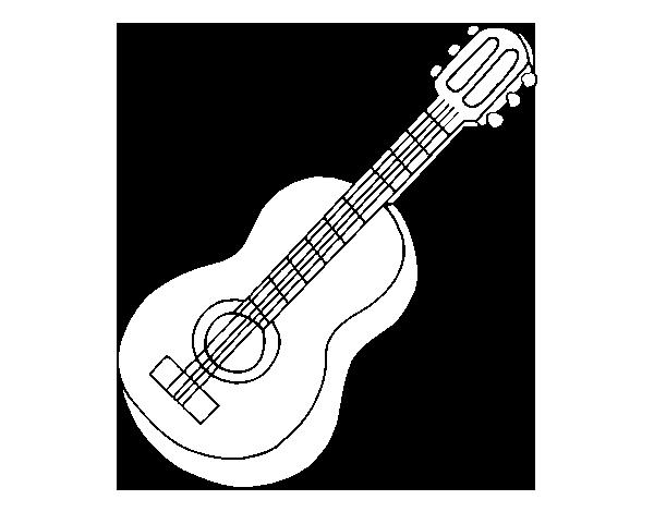 Dibujo De Guitarra Clásica Para Colorear Dibujosnet