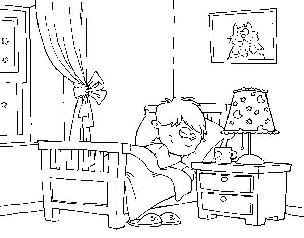Dibujo de habitaci n para colorear for Disegno casa interno