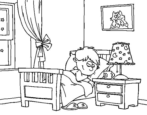 Dibujo de Habitación para Colorear - Dibujos.net