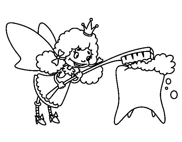 Dibujo de Hada de los dientes para Colorear - Dibujos.net