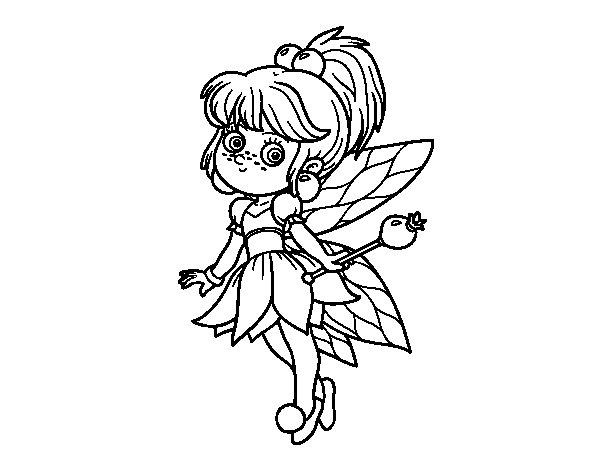 Dibujo de Hada mágica del bosque para Colorear - Dibujos.net