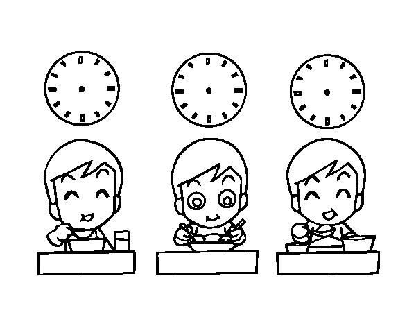 Dibujo de Horarios de comidas para Colorear - Dibujos.net