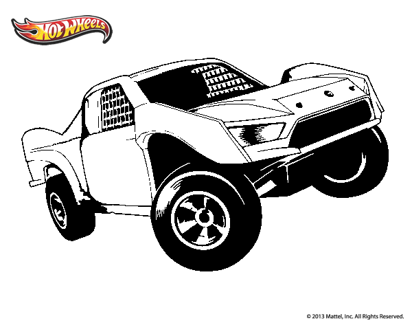 Dibujo de Hot Wheels Ford para Colorear   Dibujos.net