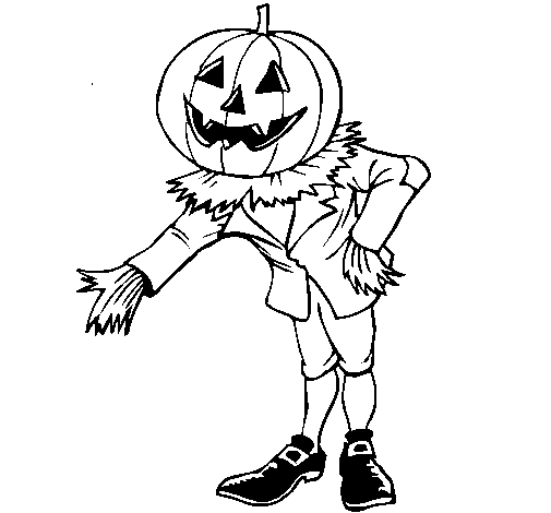 Dibujo de Jack-o-lantern para Colorear - Dibujos.net