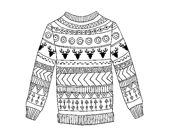 Dibujo de Jersey de lana estampado para Colorear - Dibujos.net
