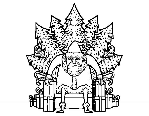 Dibujos Para Colorear No Imprimir: Dibujo De Juego De Tronos De Navidad Para Colorear