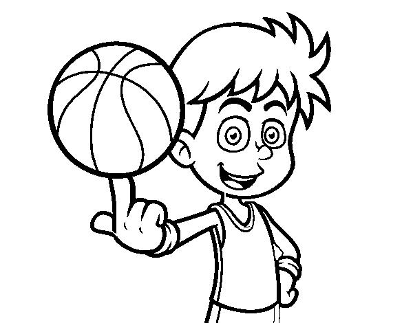Dibujos Para Colorear Jugador De Hockey: Dibujo De Jugador De Baloncesto Junior Para Colorear