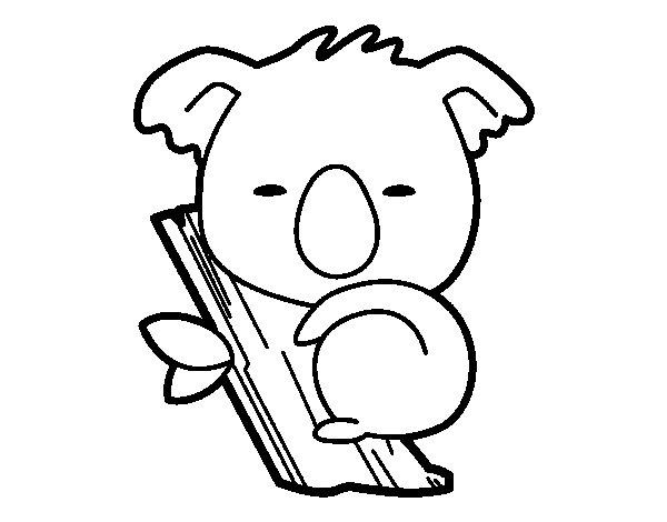 Dibujo de Koala bebé para Colorear - Dibujos.net