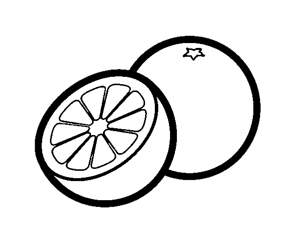 Dibujo de Las naranjas para Colorear - Dibujos.net