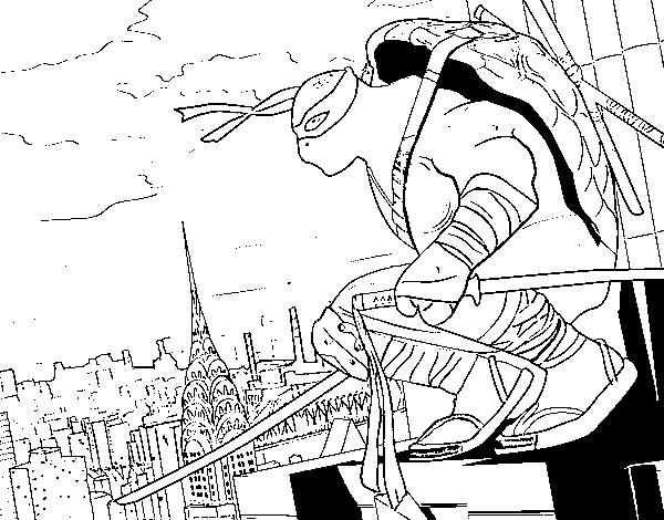 Dibujo de Leonardo de Ninja Turtles para Colorear - Dibujos.net