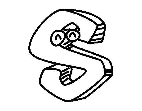 Dibujo de Letra S para Colorear - Dibujos.net