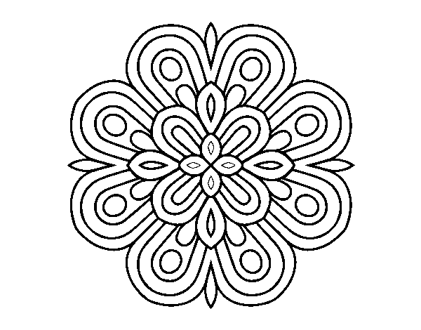 Dibujo De Mandala Arte Visual Para Colorear Dibujos Net
