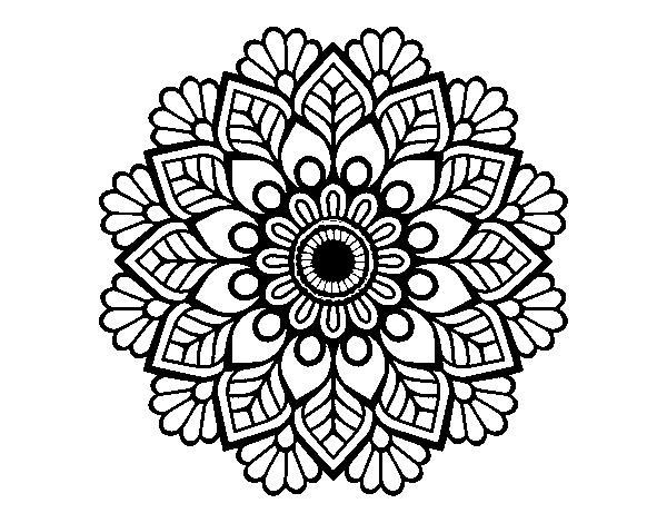 Dibujo de Mandala de primavera para Colorear   Dibujos.net