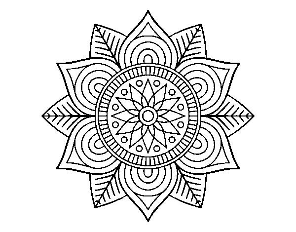 Colorear Mandalas Mandalas Dibujos Para Colorear Mandalas: Dibujo De Mandala Flor Estelar Para Colorear