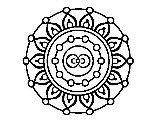 Colorear Mandalas Mandalas Dibujos Para Colorear Mandalas: Dibujo De Mandala Meditación Para Colorear