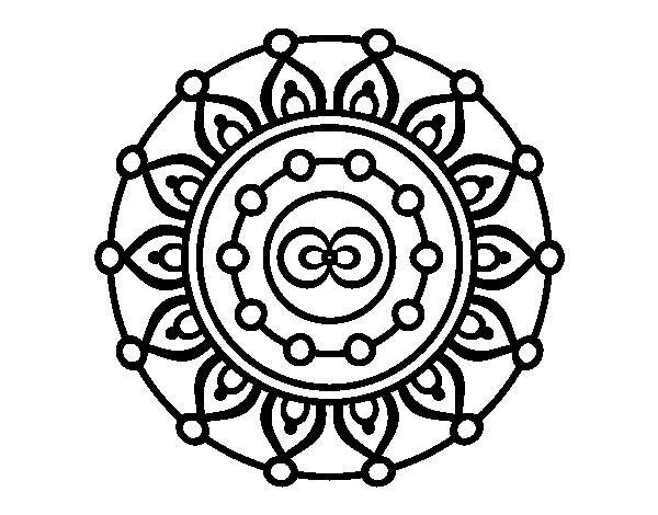 Dibujo De Mandala Meditación Para Colorear Dibujosnet