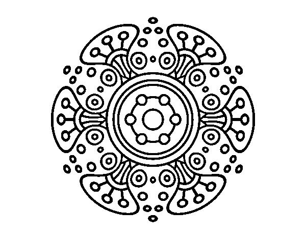 Mandalas Para Colorear Online Mandalas Para Descargar: Dibujo De Mandala Mundo Lejano Para Colorear