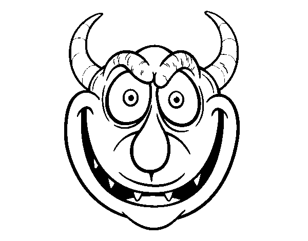Dibujo De Máscara De Demonio Para Colorear Dibujosnet