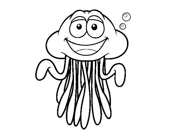 Dibujo de Medusa pelagia para Colorear - Dibujos.net