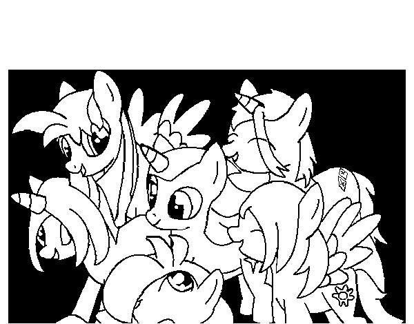 Dibujo de Mejores amigos para Colorear - Dibujos.net