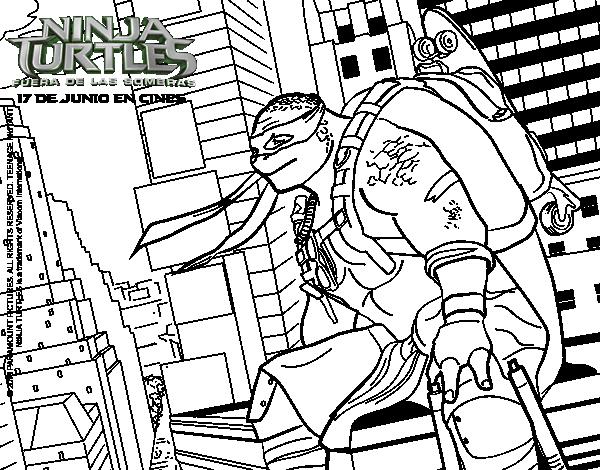 Dibujo de Michelangelo de Ninja Turtles para Colorear - Dibujos.net
