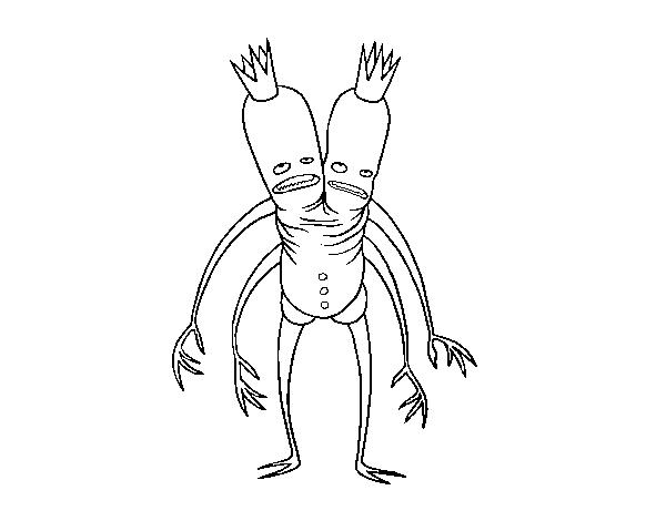Dibujo De Monstruo Rey De 2 Cabezas Para Colorear Dibujosnet
