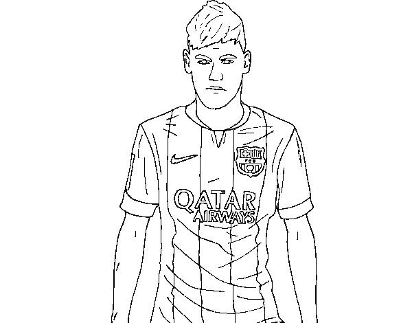Dibujo de Neymar Jr. para Colorear   Dibujos.net