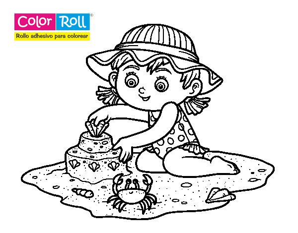 Dibujo de Niña playera Color Roll para Colorear - Dibujos.net