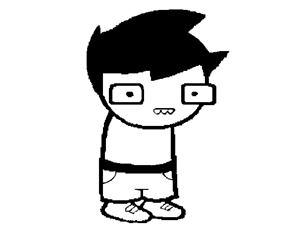 8a9701a095 Dibujo de Niño con gafas para Colorear - Dibujos.net
