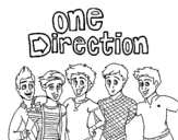 Dibujo de One Direction 3 para colorear