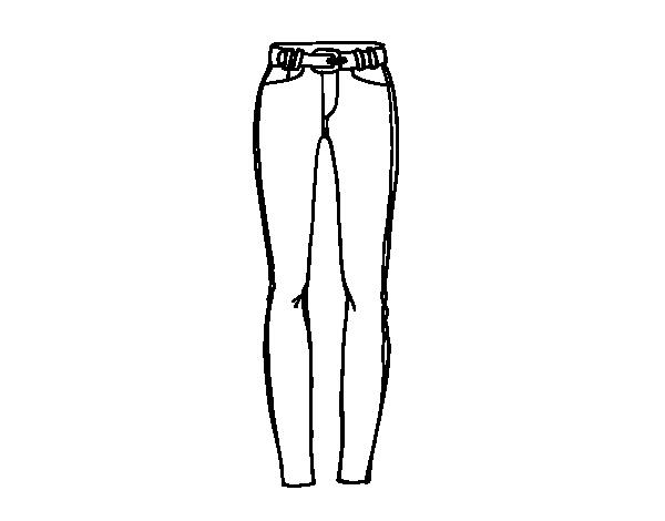 Dibujo de Pantalones de pitillo para Colorear - Dibujos.net