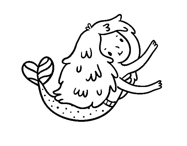 Dibujo de Pequeña sirena para Colorear - Dibujos.net